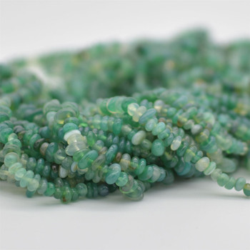 """High Quality Grade A Natural Green Agate Semi-precious Gemstone Chips Nuggets Beads - 5mm - 8mm, approx 36"""" Strand"""