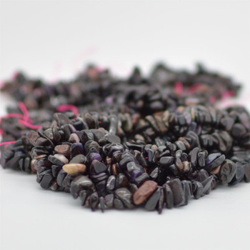 "High Quality Grade A Natural Sugilite Semi-precious Gemstone Chips Nuggets Beads - 5mm - 8mm, approx 15.5"" Strand"