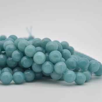 "High Quality Grade AAA Natural Amazonite Semi-Precious Gemstone Round Beads - 12mm - 15"" strand"