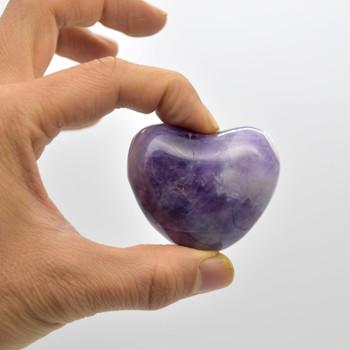 High Quality Natural Banded Amethyst Heart Semi-precious Gemstone Heart - 1 Gemstone Heart - 90 grams - #6