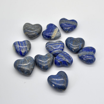High Quality Natural Lapis Lazuli Semi-precious Gemstone Heart - 1 Gemstone Heart - 45g - 60g - approx 4.5 x 3.5cm