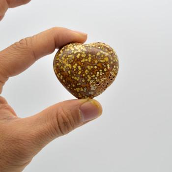 Quality Natural Ocean Jasper Heart Semi-precious Gemstone Heart - 1 Gemstone Heart - 53 grams - #09