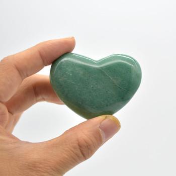 High Quality Natural Green Aventurine Heart Semi-precious Gemstone Heart - 1 Gemstone Heart - 62 grams - #6