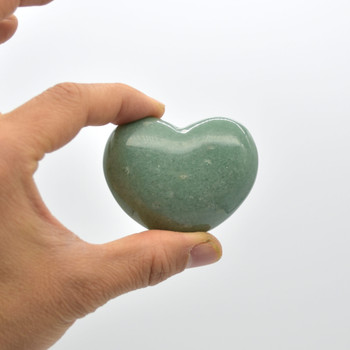High Quality Natural Green Aventurine Heart Semi-precious Gemstone Heart - 1 Gemstone Heart - 102 grams - #7