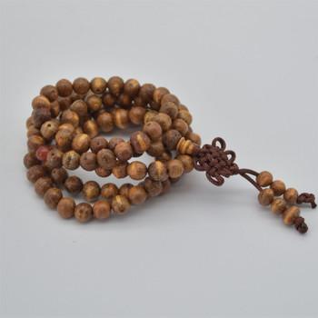 Natural Raw Bodhi Seeds Round Wood Beads - 108 beads - Mala Meditation Prayer Beads - approx 6mm