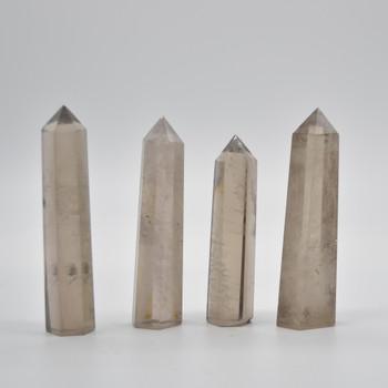 Natural Smoky Quartz Semi-precious Gemstone Point / Tower / Wand - 1 Count - approx 8cm - 10cm x 2cm - 2.5cm #1