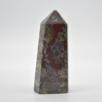 Natural Dragon Blood Jasper Semi-precious Gemstone Point / Tower / Wand  - 1 Count - approx 13cm x 5.5cm - 586 grams #3