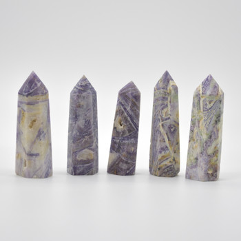 Copy of Natural Silky Fluorite Semi-precious Gemstone Point / Tower / Wand - 1 Count - approx 8.5cm - 9cm x 2.5cm #4