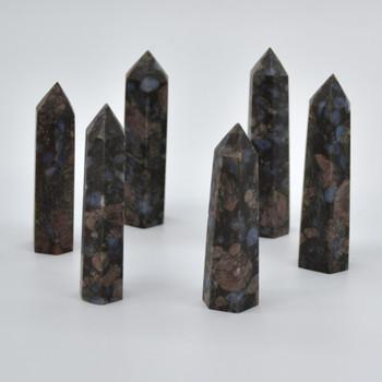 Natural Llanite Semi-precious Gemstone Point / Tower / Wand  - 1 Count - approx 6cm - 7cm