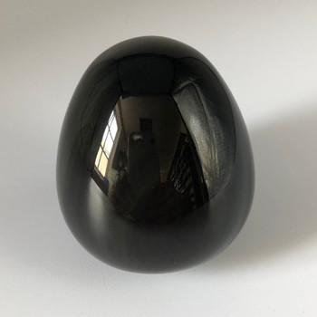 Natural Rainbow Obsidian Semi-precious Egg Shaped Gemstone Palm Stone  - 1 Count - approx 80g - 100g per stone #01