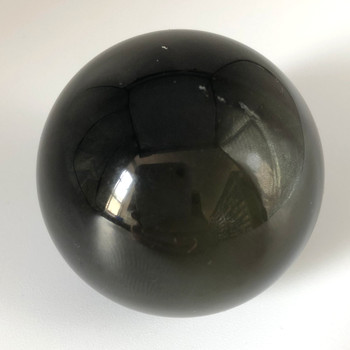Natural Rainbow Obsidian Semi-precious Ball Shaped Gemstone Palm Stone  - 1 Count - 110 - 120 grams approx 4cm width #01
