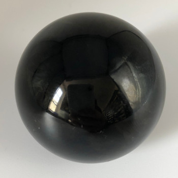 Natural Rainbow Obsidian Semi-precious Ball Shaped Gemstone Palm Stone  - 1 Count - 150 - 155 grams approx 5cm width #02