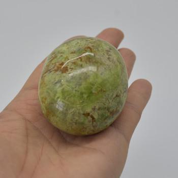 Natural Green Opal Semi-precious Gemstone Palm Stone Tumbled Stone - 1 Count - 138 grams #16