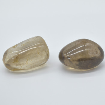 Natural Smoky Quartz Semi-precious Gemstone Palm Stone Tumbled Stones -  1 count - 110 - 120 grams