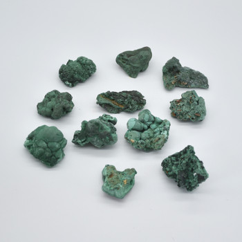 Raw Natural Malachite Gemstone sample / specimen rock - 1 count - 50 - 120 grams