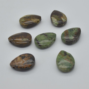 Natural Australian Bloodstone Teardrop Shaped Semi-precious Gemstone Pendant - Approx  3.5cm x 2.5cm - 1  count