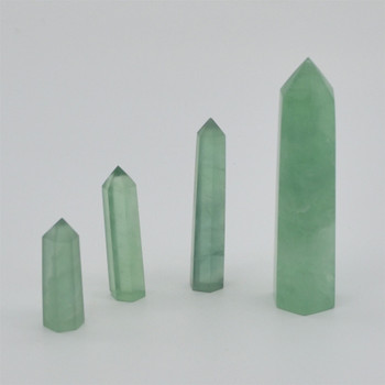 Natural Green Fluorite Semi-precious Gemstone Point / Tower / Wand  - 1 Count - Various sizes