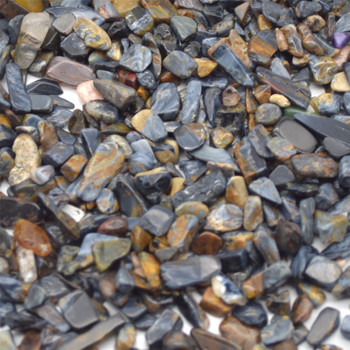 Natural Blue Pietersite Tumblestone Chips - approx 100g - approx 3mm - 10mm
