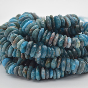 """High Quality Grade A Natural Apatite Semi-precious Gemstone Chunky Chips / Nuggets Beads - approx 8mm - 15mm x 1mm - 6mm -  15.5"""" strand"""