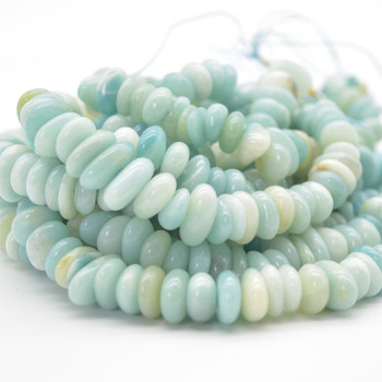 "High Quality Grade A Natural Amazonite Semi-precious Gemstone Chunky Chips / Nuggets Beads - approx 8mm - 15mm x 1mm - 6mm -  15.5"" strand"