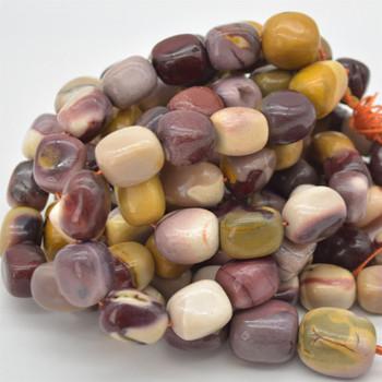 "High Quality Grade A Natural Mookite Semi-precious Gemstone Large Nugget Tumblestone Beads - approx 15mm - 20mm x 10mm - 12mm - 15.5"" long"