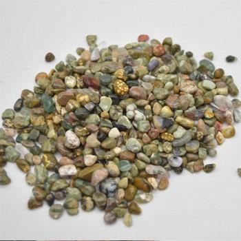 Natural Ocean Jasper Tumblestone Chips - approx 100g - approx 3mm - 10mm