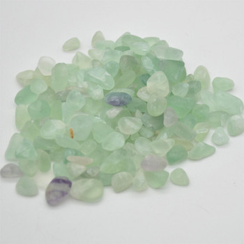 Natural Green Fluorite Tumblestone Chips - approx 100g - approx 10mm - 25mm