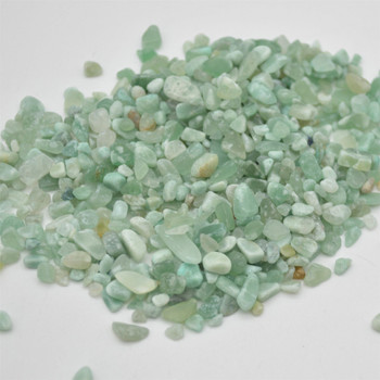 Natural Green Aventurine Tumblestone Chips - approx 100g - approx 3mm - 10mm
