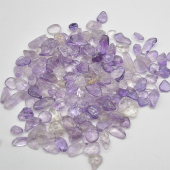 Natural Amethyst Tumblestone Chips - approx 100g - approx 3mm - 10mm
