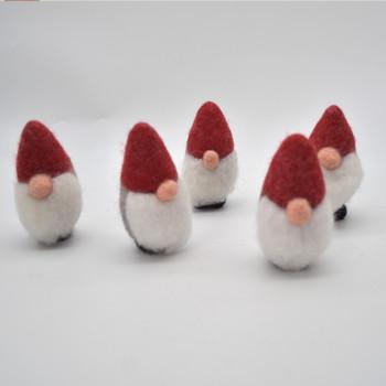 Felt Christmas Santa Gnome / Elf Figure - 1 Count - approx 9cm - 9.5cm x 4cm - 4.5cm