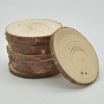 Pine Wood log Slice - Pre-drilled hole - 20 Count - 6cm - 8cm