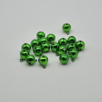 Metallic Jingle / Sleigh Bells - Green  - 100 Count - 12mm