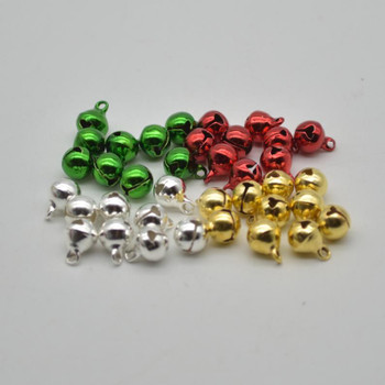 Metallic Jingle / Sleigh Bells - Assorted Colours  - 100 Count - 8mm