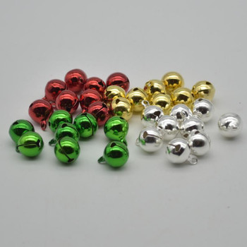 Metallic Jingle / Sleigh Bells - Assorted Colours  - 100 Count - 12mm