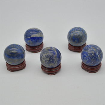 Natural Lapis Lazuli Semi-precious Gemstone Sphere Ball  - 1 Count - approx 4cm - 4.5cm wide - approx 80 - 100 grams