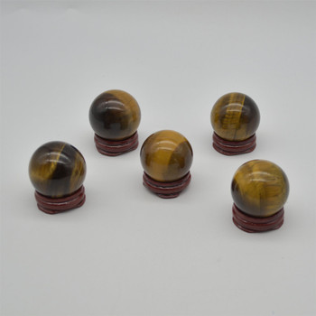 Natural Tiger Eye Semi-precious Gemstone Sphere Ball  - 1 Count - approx 4cm wide - approx 80 grams
