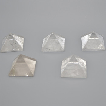 Natural Clear Quartz Semi-precious Gemstone Pyramid - 1 Count - approx 5cm x 4.5cm - approx 100 - 150 grams