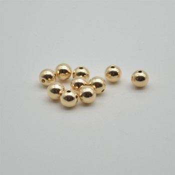 14K Gold Filled Findings - 5 Gold Filled Round Seamless Spacer Beads - 8mm - 5 count - 1.8mm hole