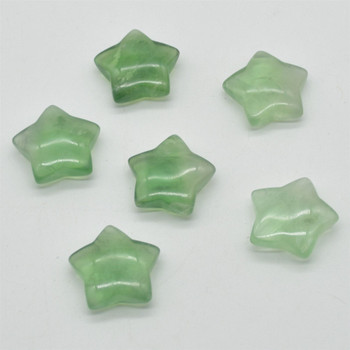 Natural Green Fluorite Semi-precious Gemstone Star - approx 3cm - 1 count