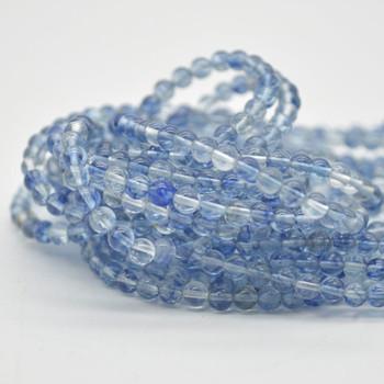 "High Quality Ultramarine Blue Quartz (man made) Round Beads - 4mm - 15.5"" strand"