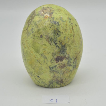 Natural Green Opal Freeform Semi-precious Gemstone - 1 Count - approx 12cm x 9cm - 995 grams - #01