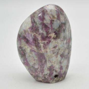 Natural Pink Tourmaline Freeform Semi-precious Gemstone - 1 Count - approx 9cm x 6.5cm - 359 grams - #01