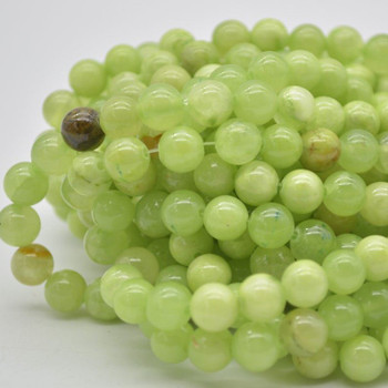 """High Quality Grade A Natural Green Calcite Semi-Precious Gemstone Round Beads - 4mm, 6mm, 8mm, 10mm sizes - 15.5"""" long"""