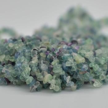 "Natural Rainbow Fluorite Beads Chips - 36"" Strand"