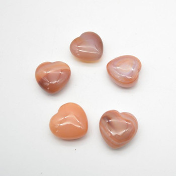 Natural Carnelian Red Agate Gemstone Heart - 1 count - 3cm - 18 grams