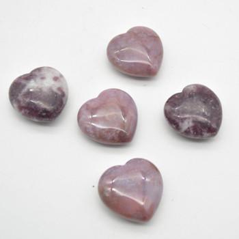 Natural Pink Tourmaline Gemstone Heart - 1 count - 3cm - 16 grams