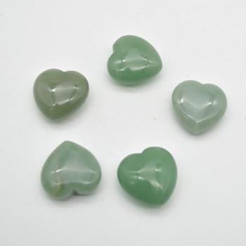 Natural Green Aventurine Gemstone Heart - 1 count - 3cm - 19 grams