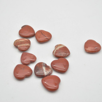 Natural Red Jasper Gemstone Heart - 1 count - 2cm - 3.5 grams