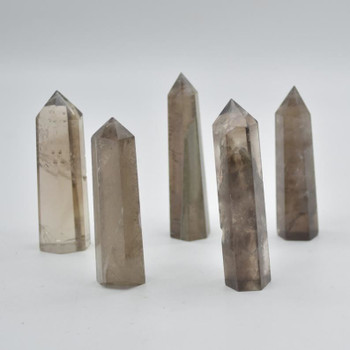 Natural Smoky Quartz Gemstone Point / Tower / Wand  - 1 Count - 7cm - 8cm