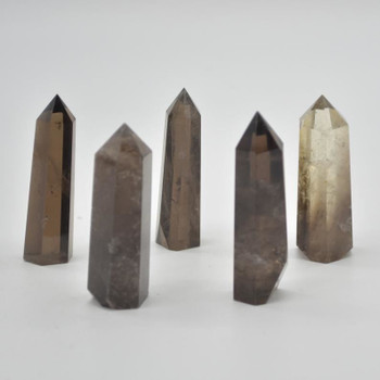 Natural Smoky Quartz Gemstone Point / Tower / Wand  - 1 Count - 5cm - 6cm